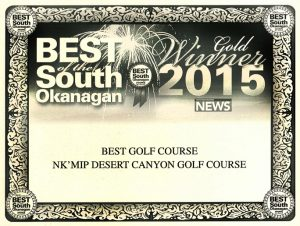 Golf Award Winner 2015 - Best Golf Course