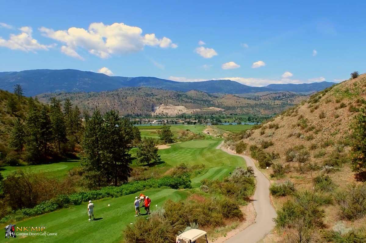 Beautiful NK'Mip Canyon Desert Golf Course